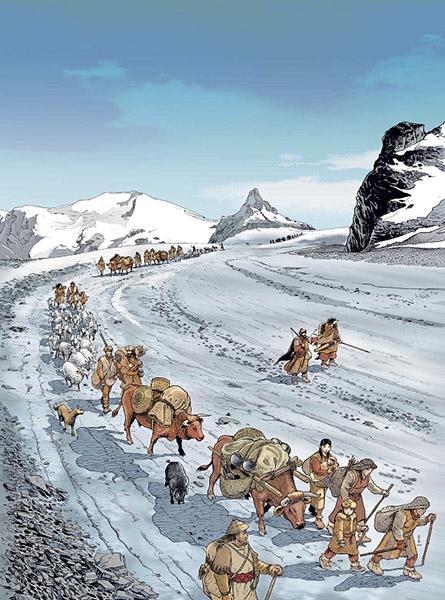 Archeologia del movimento Circulation des hommes et des biens dans les Alpes
